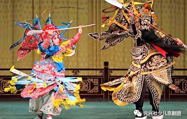 Beijing Opera fights are beautifully choregraphed