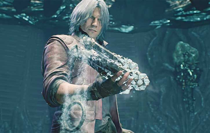 Dante acquires his new weapon