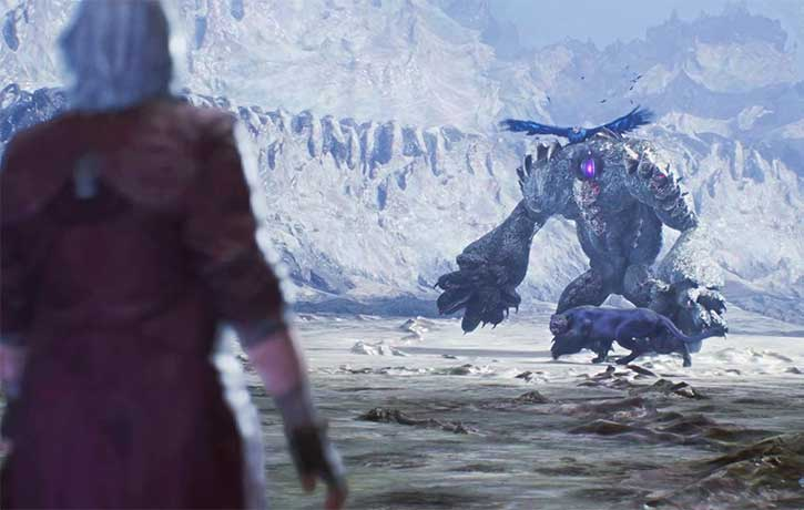 Dante is confronted by Vs companions