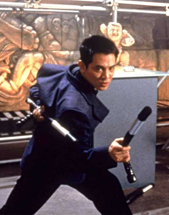 Jet Li takes a break from playing historical masters
