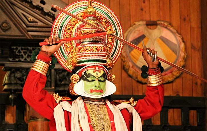 Kathakali is a classical form of dance from Kerala, India