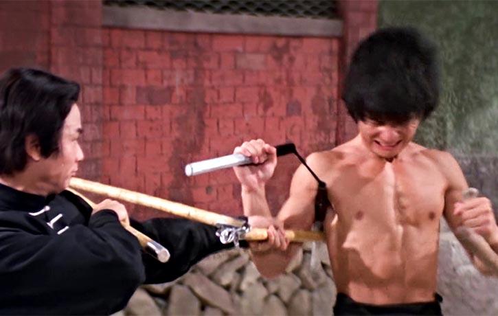 Unusual Weapon combo nunchaku and tonfa