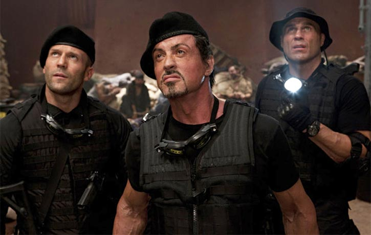 Randy joined an action movie ensemble in 2010s The Expendables