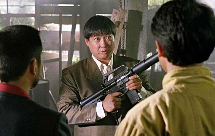 Sammo Hung as a would be arms dealer called Luke Wong Fei hung