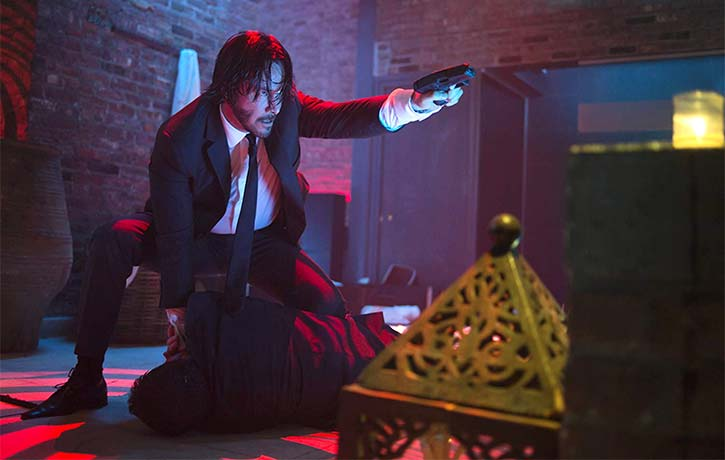 The John Wick movies are modern action hits that the film also zeroes in on