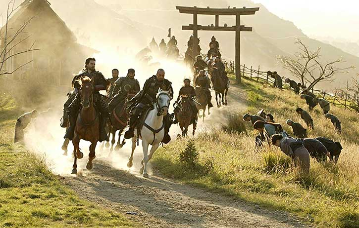 The samurai ride into action