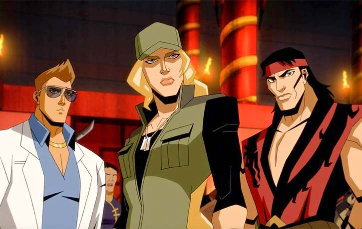 Liu Kang, Sonya Blade, and Johnny Cage are ready for Mortal Kombat