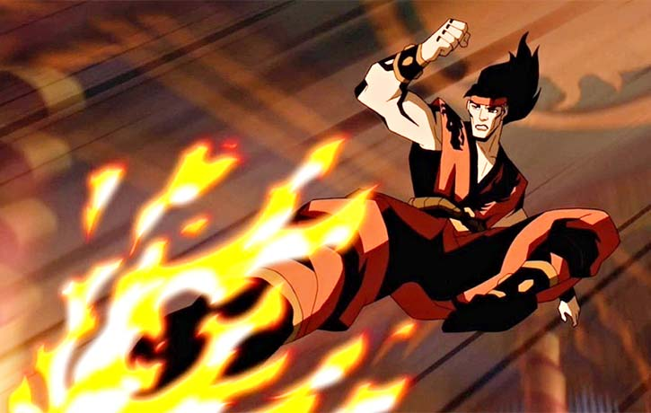 Liu Kang summons all of his might to defend Earthrealm