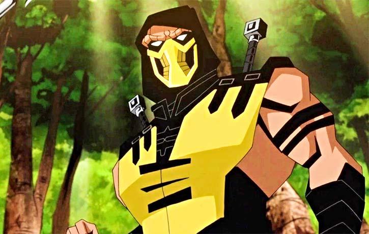 Scorpion gets his bearings for Mortal Kombat