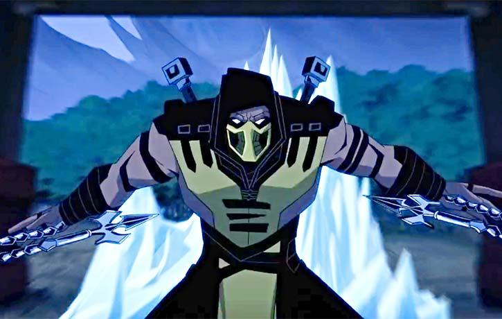 Scorpion throws everything hes got at Sub Zero