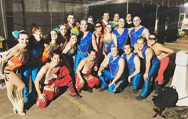 A happy family of performers for The Greatest Showman 2017