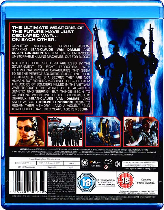 Universal Soldier -Blu-ray cover -back