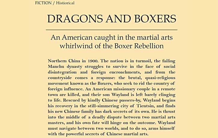 Dragons and Boxers -story outline
