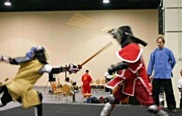 Kyle Fiske is well-versed in the art of sword fighting