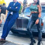 Vladimir Kulich with Mayling Ng hang out in style on the set of Debt Collectors