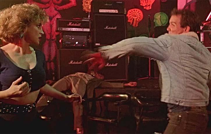 Billie in a bar room brawl