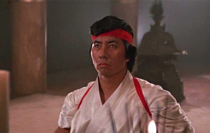Highly skilled ninja, Akira Saito meditates in the temple