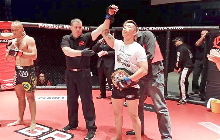 Martin Nguyen was the BRACE featherweight champion before signing with One Championship