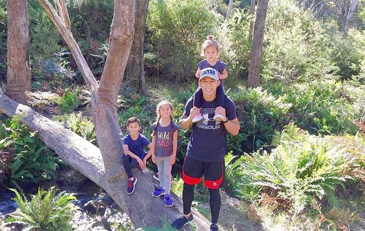 Outside the cage, Martin Nguyen is a family man