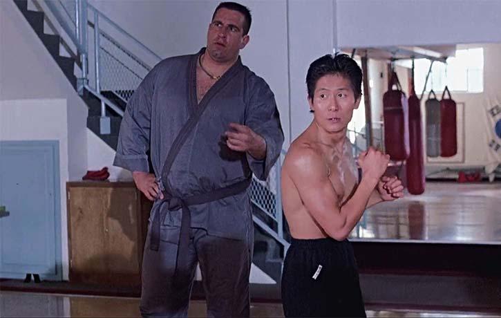 Sean interrupts a henchmen workout