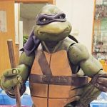 Donatello scopes this haunt out!