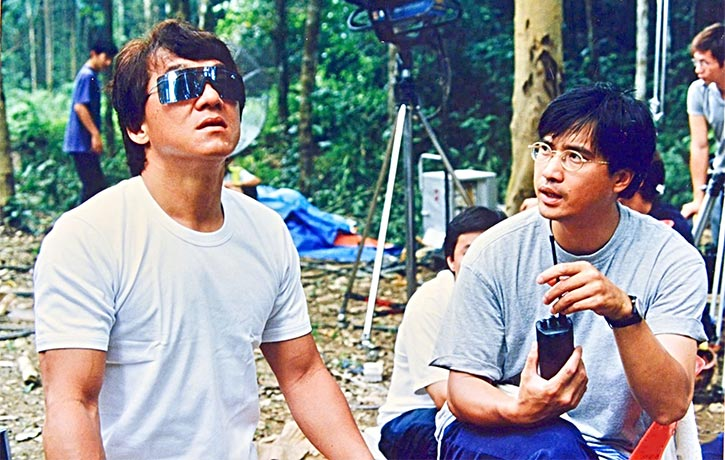 Jackie Chan and Benny Chan filming Who Am I