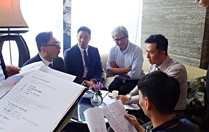 Script read through with Donnie Yen
