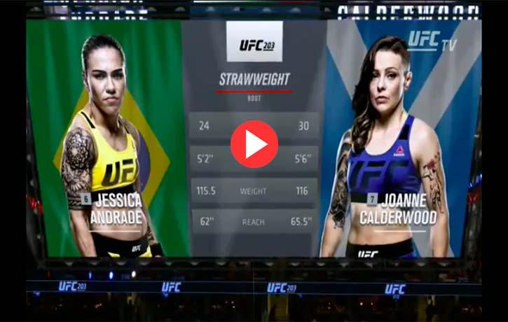 Vs. Joanne Calderwood — UFC 203 (Sept. 10, 2016)