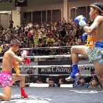 Fighters performing Wai Khru