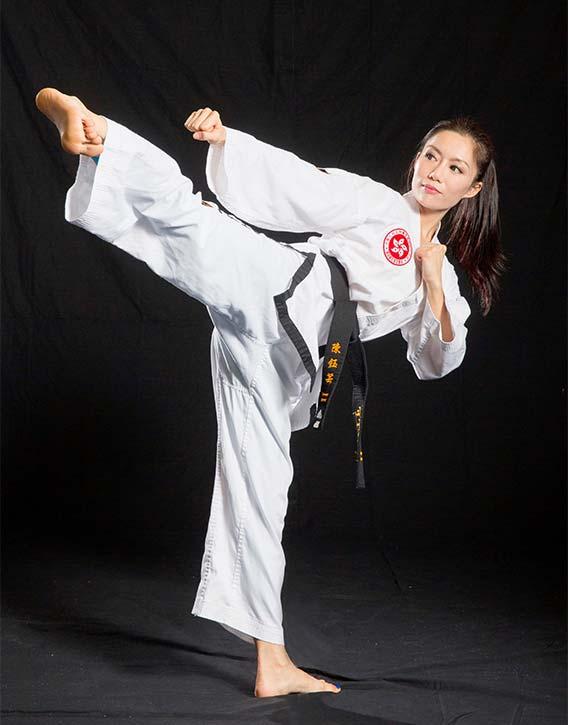 JuJu Chan kickin it in traditional attire