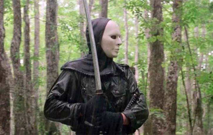 Masked terror in the woods