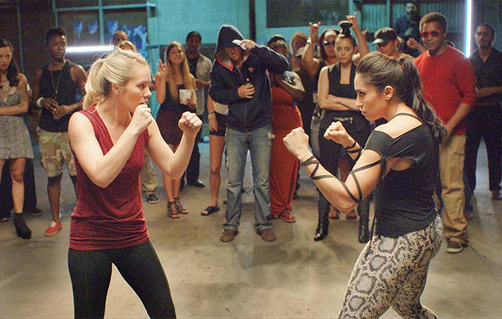 One of the many bouts in Female Fight Club
