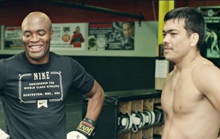 Anderson Silva with Lyoto Machida in Tapped Out