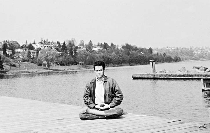 Bruce focused energy on his mind courtesy of the Bruce Lee Family Archive