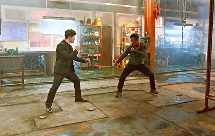 Joe faces off with Iko Uwais in The Night Comes for Us