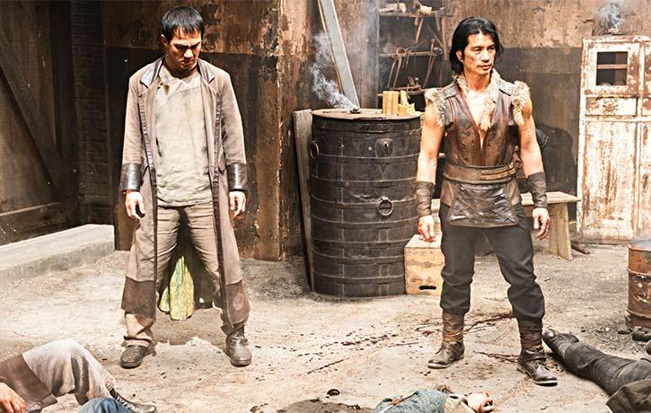 Joe with Dustin Nguyen in Cinemaxs Warrior