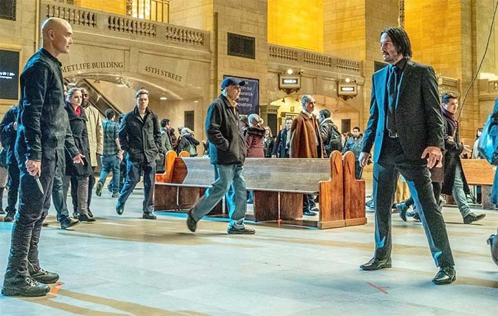 Mark Dacascos Keanu Reeves rock and roll in John Wick Chapter 3