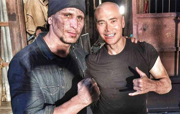 Mark Dacascos has a solid fight with Brahim Chab