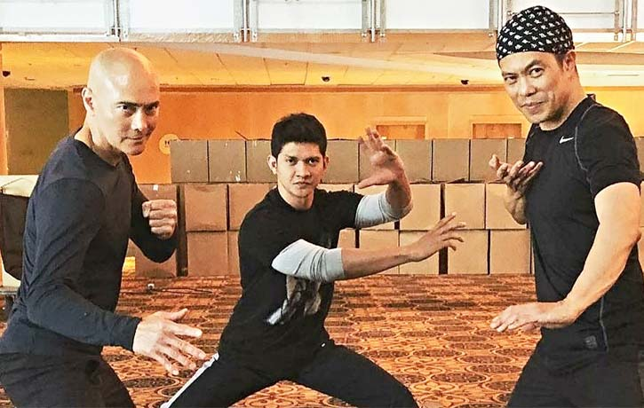 Mark with Wu Assassins co stars