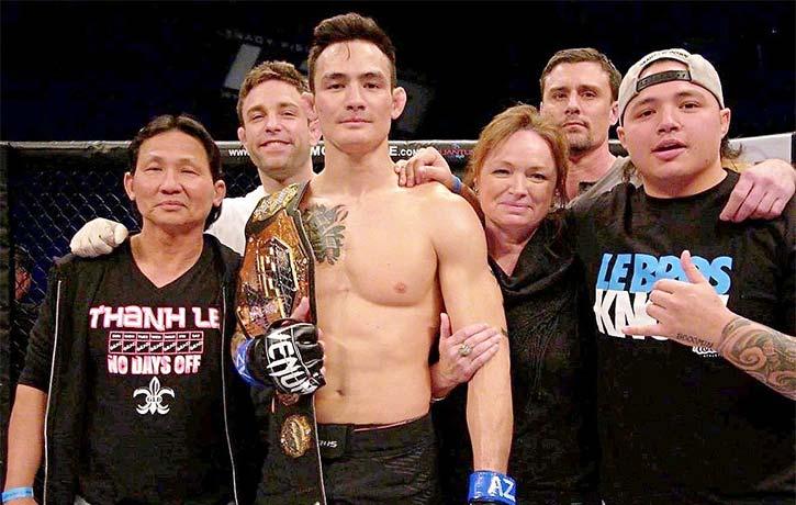 Thanh Le wins the LFA interim featherweight belt