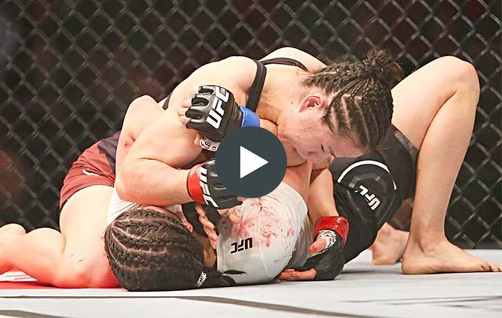 Zhang Weili vs Jessica Aguilar UFC Fight Night 141 1