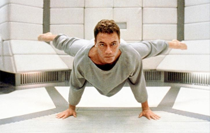 JCVD is in fine form as he straddles into his trademark splits