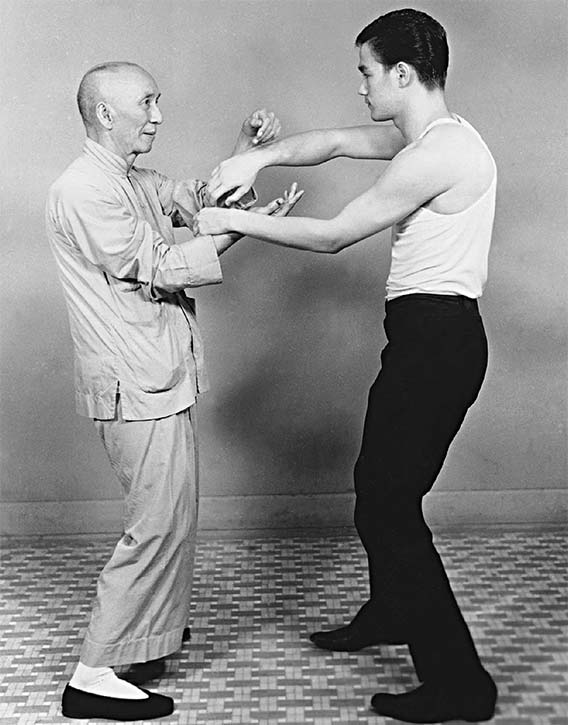 Training with Ip Man Courtesy of the Bruce Lee Family Archive