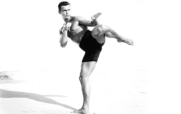 A younger Daniel Bernhardt in superb shape