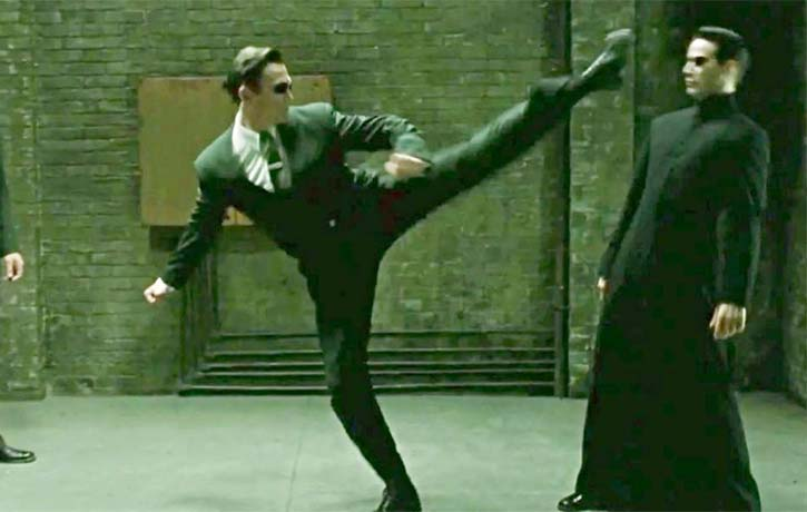 Daniel spin kicks into action in The Matrix Reloaded