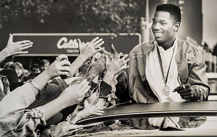 Lennox Lewis at the 1988 Olympics