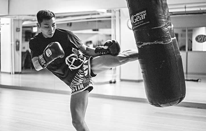 MMA Kickboxing training