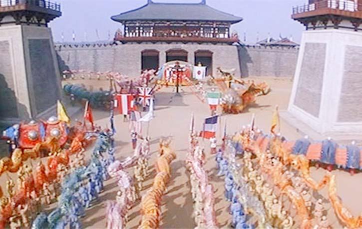 The Lion Dance tournament is a colourful set piece
