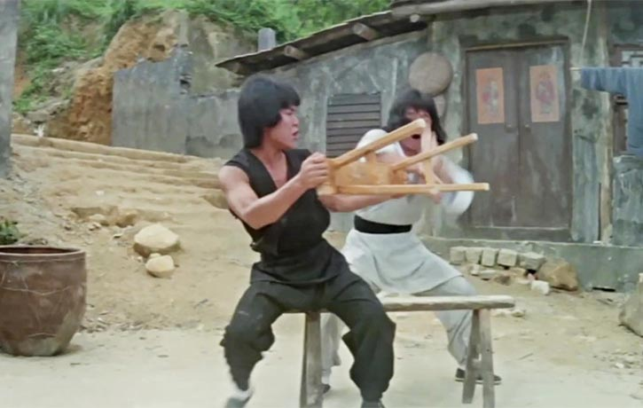 Jackie Chan and Yuen Biao are masters of these types of scene