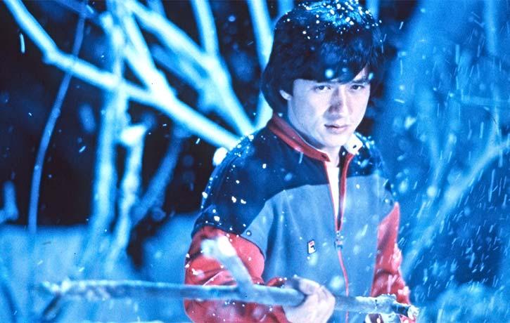 Jackie Chan makes his way through a creepy Japanese haunted house